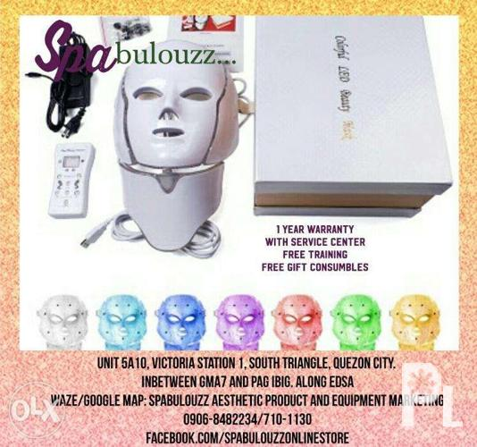 LED mask with neck facial diamond peel machine