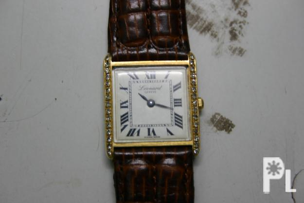Leonard Geneve Gold Diamond Watch