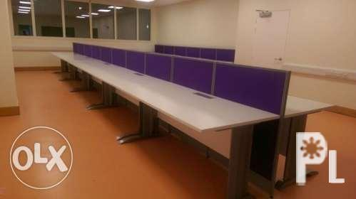 Linear Workstation Office Partition For Sale In Quezon