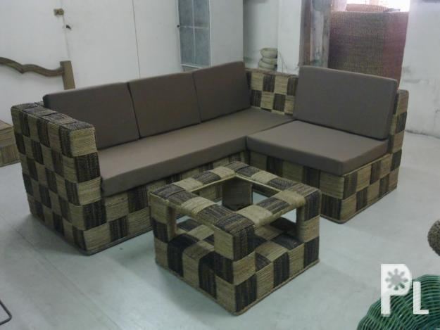 Living room sala set rattan and abaca furniture for sale for Sala set for small living room