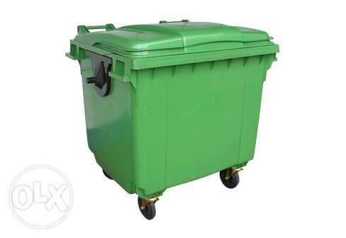 Mobile Wheel Plastic Trash Bins 1100L 660L