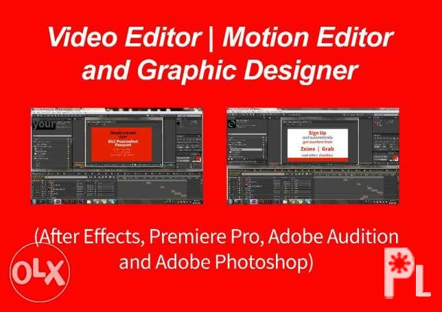 Motion Graphics Video Editor for Sale in Manila, National
