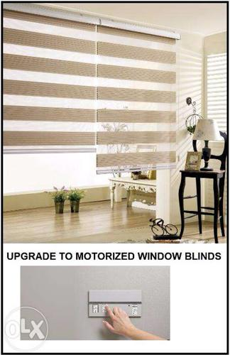 Motorized window blinds deluxe home combi combination Motorized window shades cost