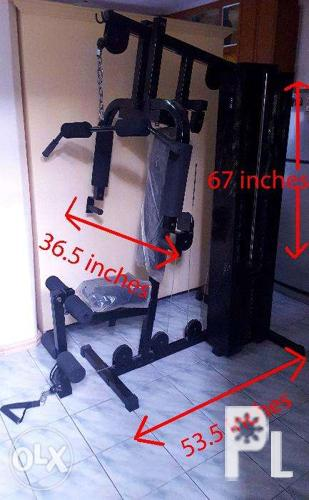 Multi function home gym equipment compact multi gym rarely used