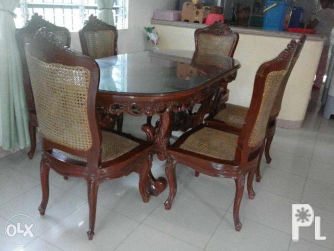 Nara dining table set and sala set for sale in batangas for Sala set for sale