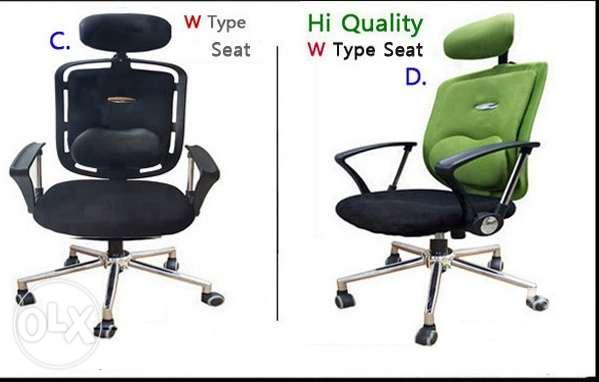 Office Chair Set With Head Back Rest For Sale In Quezon