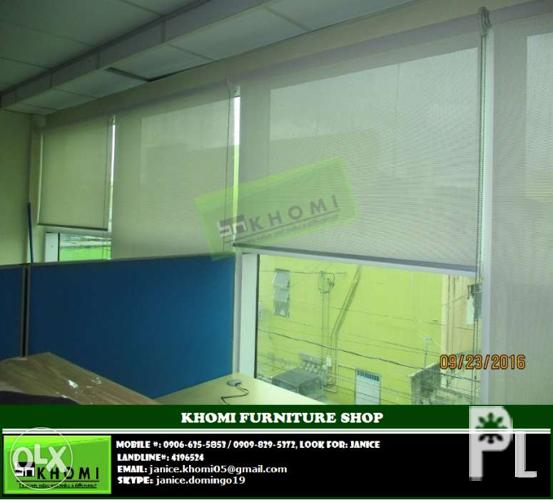 Office furniture and partition window blinds for sale in quezon city national capital Home furniture quezon city