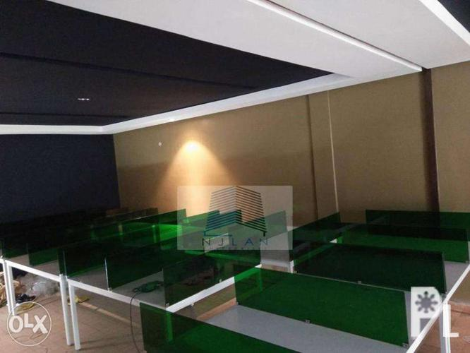 _Office Partition_Linear Workstation With Screen Panel