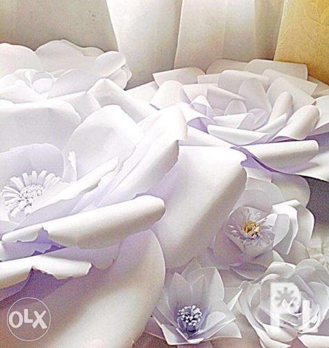 Paper Flower For Wedding Backdrop Or Any Occasions For Sale In