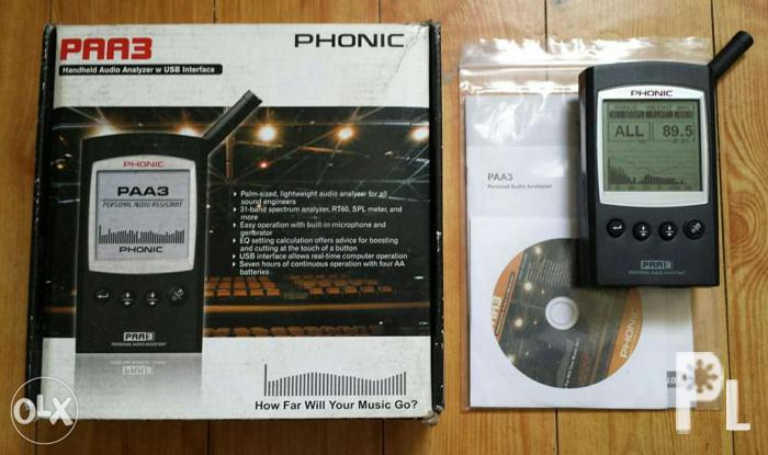 Phonic PAA3 Professional Real Time Audio Analyzer for Sale