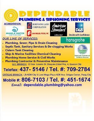 Plumbing and Siphoning Services, Pasig City