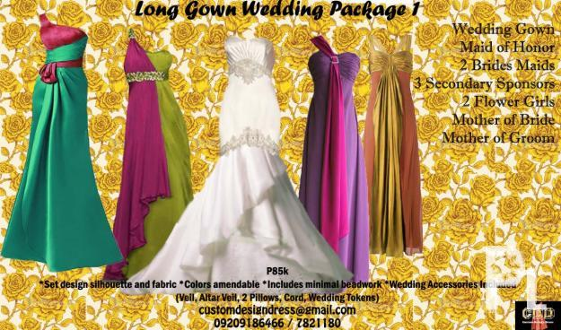 Premium Custom Made Wedding Gown And Package