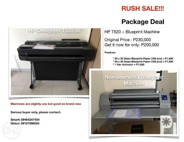 Printing Machines (HP Designjet T520 36in and