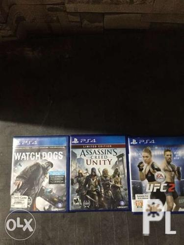 Ps4 games for sale or swap 1300 all 3
