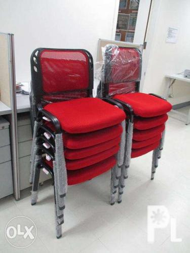 Red Visitor 39 S Chairs Office Furniture Partition Khomi For Sale In Quezon City National