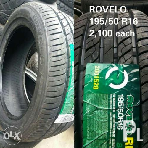 rovelo tire 195 50 r16 promo for sale in quezon city national capital region classified. Black Bedroom Furniture Sets. Home Design Ideas