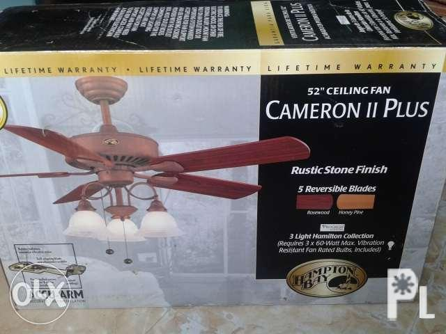 "SALE! Brand New 52"" Ceiling Fan with Lamp"
