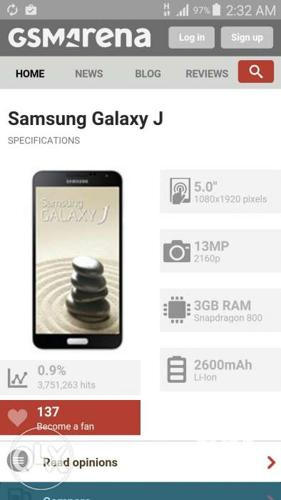 Samsung Galaxy J docomo note 3 specs for Sale in Davao City