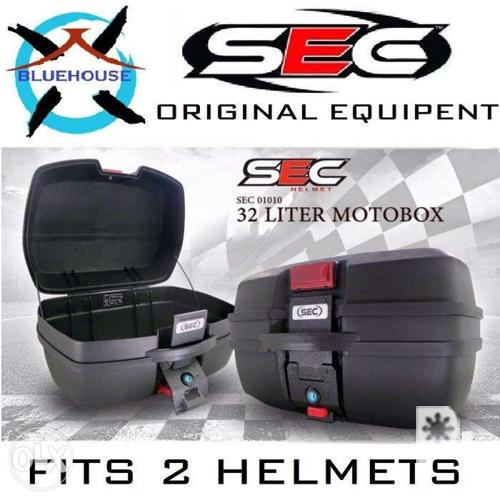 SEC PROMO Motorcycle Top Box 32L and Brackets FREE