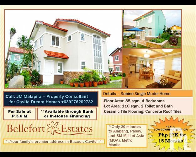 Single Home In Bacoor Cavite Bellefort Homes Php 27k Monthly Dp For Sale In Bacoor Calabarzon