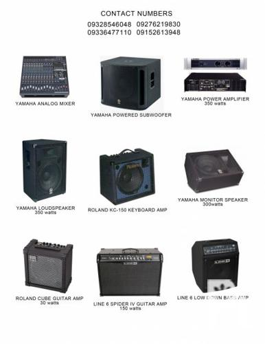SLIGHTLY USED HIGHEND BAND EQUIPMENT FOR SALE: