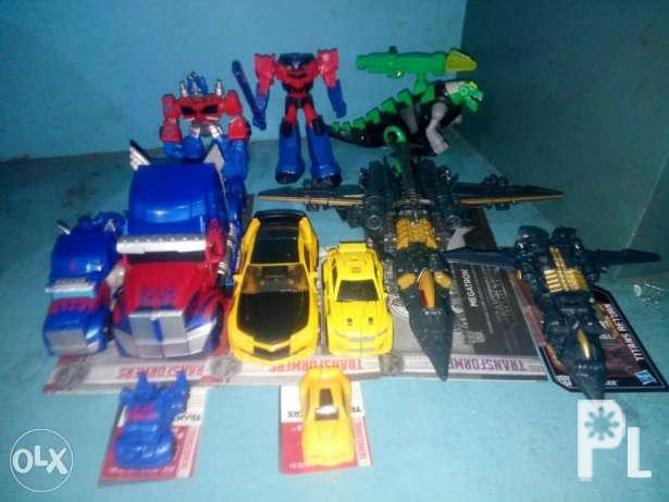 Transformers movie and animated toys