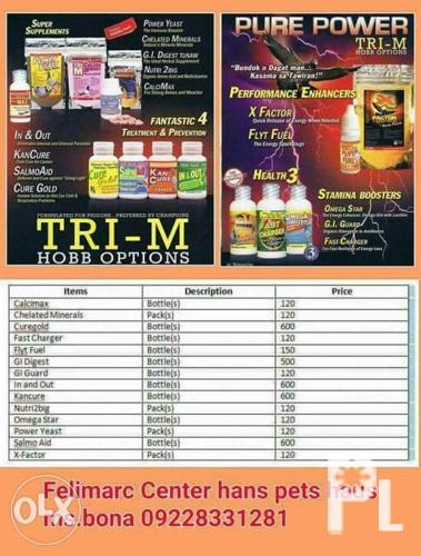 Tri M Products For Racing Pigeon
