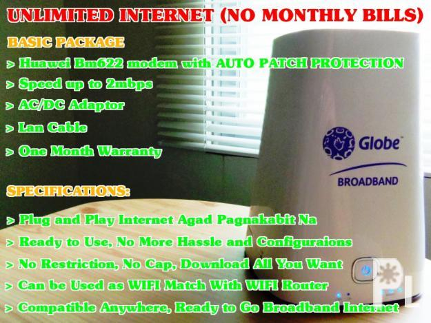 Unlimited internet no monthly bills ? Bacolod City