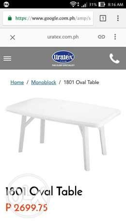 Uratex oval table color green