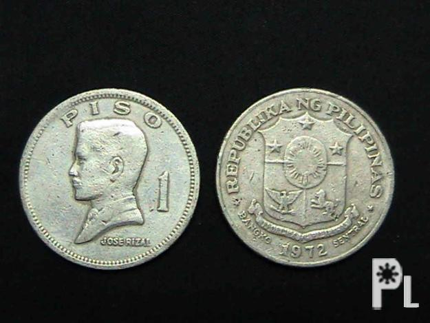 We Buy 1972-1974 Philippine 1 Piso Coin
