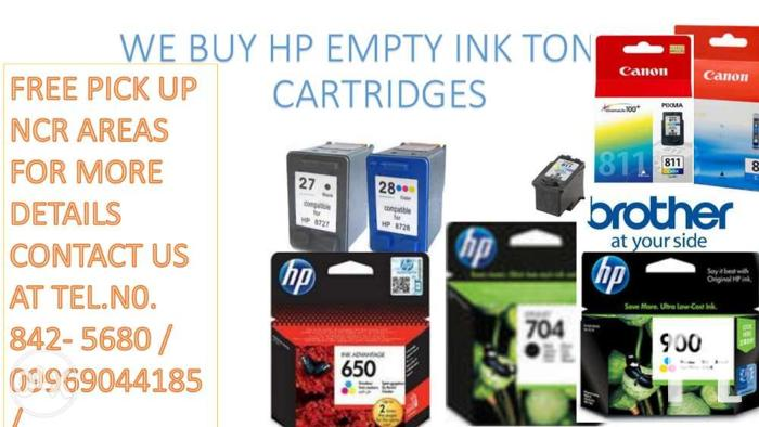 We Buy HP empty ink toner cartridges