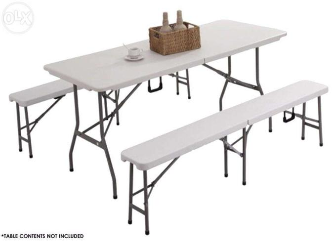 White Top Folding TAbles Folding Chairs Restaurant Home Furniture For Sale In