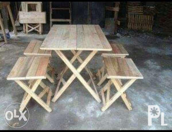 Wooden Dining Table Set For Tapsihan Lugawan Canteen