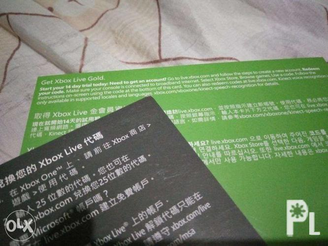 Xbox live and ea access codes for Sale in Valenzuela City