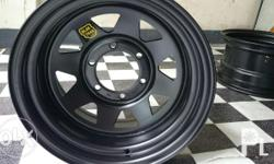 ROH Wheels BRAND NEW Original Size: 16x8 (3,750 per rim) 16x10 (4,900 per rim) Style: Blak Trak 2 - TRIANGLE CUTS with ROH yellow logo Sticker . WE DO NOT SELL BEARCAT Color: Matte Black (PCD 6x139 & 5x139) Free meet up for sure buyers in Central and