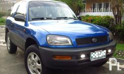 1997 TOYOTA RAV4 1ST OWNED IMMACULATE CONDITION 4WD M/T 3DOORS DUAL SRS AIRBAG EFI ECONOMICAL BEST COMPACT SUV CLASSIC CUTE VERY FRESH LOADED NEW INDASH TV MONITOR DVD/VCD/CD/MP4TIRE CASE ALARM KEYLESS ENTRY FOG LAMPS3M TINT AUTO POWER WINDOW UP BEST
