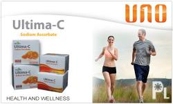 Content: Sodium Ascorbate 500 mg. Packaging: 100 Capsules / box Dosage: Take 1 to 3 capsules daily with beverage or meal or as prescribed by a healthcare professional. Ultima-C is a revoluionay yet natural Vitamin-C that is readily absorbed by the body