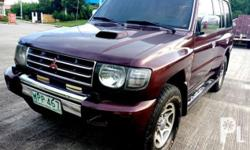 2001 MITSUBISHI PAJERO FIELDMASTER TURBO DIESEL 4M40 ENGINE 4 WHEEL DRIVE Automatic Transmission All power Registered Cool ac Low mileage Makinis Tested in long Drive Nothing to fix Complete original OR and CR open deed of sale Ready to transfer