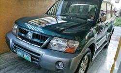 Mitsubishi Pajero CK GLS 2004 Year 80,000 km mileage 3.0L Engine Gas Fuel Automatic transmission Air Conditioning Cruise Control Power Steering Remote Keyless Entry Leather Interior Air Bags Alarm Anti-Lock Brakes (ABS) AM/FM Radio CD Player Mitsubishi