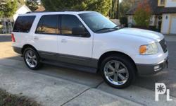 Selling 2005 Ford Expedition V8 automatic leather heated seats  sunroof power windows and door locks seats 8 foose 22 inch Front and rear AC and heater registered july 2017.  original owners asking 290,000 info for more information write me more