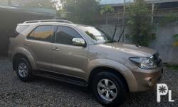 2006 Toyota Fortuner 3.0V4x4Automatic TransmissionColor Beige91,000 Km Reading originalNewly Replaced Timing BeltNew BatteryLeather Seat CoverWell MaintainedZero kalampag1st OwnerSuper Fresh In and Out