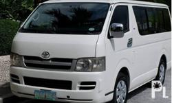Toyota HiAce 2006 Year 91,000 km mileage 2.5L Engine Diesel Fuel Manual transmission Air Conditioning Power Steering Remote Keyless Entry Sunroof Leather Interior Air Bags Alarm Anti-Lock Brakes (ABS) AM/FM Radio CD Player TOYOTA HI-ACE 2006 MODEL DIESEL