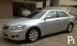 Toyota Camry 2.4V 2007 Year 50,000 km mileage 2.4L Engine Gas Fuel Automatic tiptronic transmission Front Wheel Drive FEATURES �Powerful and fuel efficient 2.4L Dual Overhead Cam (DOHC) VVTI Gasoline engine (16 valve 4 cylinders) �All power features