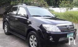Toyota Fortuner G 2007 Year 102,500 km mileage 2.7L Engine Gas Fuel Automatic transmission Air Conditioning Cruise Control Central Locking Power Steering Remote Keyless Entry Leather Interior Air Bags Alarm Anti-Lock Brakes (ABS) AM/FM Radio CD Player
