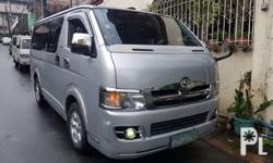 2007 Toyota HiAce Commuter Manual Transmission D4d Engine Super Fresh  2.5engine Diesel Turbo 70k mileage only All intack Interior Power Features Very Good shifting Power steering 90% All tires front and back No issue No engine Leak Super Good Condition