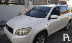 Toyota Rav4 2007 Year 72,000 km mileage 2.4L Engine Gas Fuel Automatic transmission Automatic Transmission Pearl White Color All Wheel Drive All Power All Leather Interior 2.4L VVTi Engine Very Well Maintained Optitron Gauges Climate control Super cold