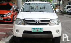 2008 Toyota FORTUNER G like new Brand:Toyota  Model:Fortuner  Year of manufacture:2008  Condition:Used  Transmission:Automatic  Mileage:90,000  Color:White