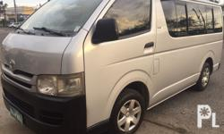 2008 Toyota Hiace Commuter 2nd Hand-company owned Diesel-Manual Well maintained-good condition   Make:Toyota Model:Hiace Commuter Year:2008 Price:165.000 Php Number Plate:ZNE 978 Mileage:100,000 Color:Other Capacity/cc:Diesel Transmission:Manual Owners:1