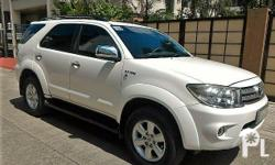 Toyota Fortuner 2009 Year 60,000 km mileage 2.7L Engine Gas Fuel Automatic transmission 4x2 Automatic transmission Gas engine Original paint Leather interior Smooth ride Not flooded No accident Smooth paint Clean interior Ready to use Fresh in/out