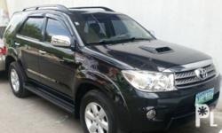 Toyota Fortuner 2009 Year Diesel Fuel Automatic transmission 4x4 Leather interior Aircon Airbags Power steering Electric windows Immobilizer Central lock Alarm CD+Mp3 audio system very good condition all original